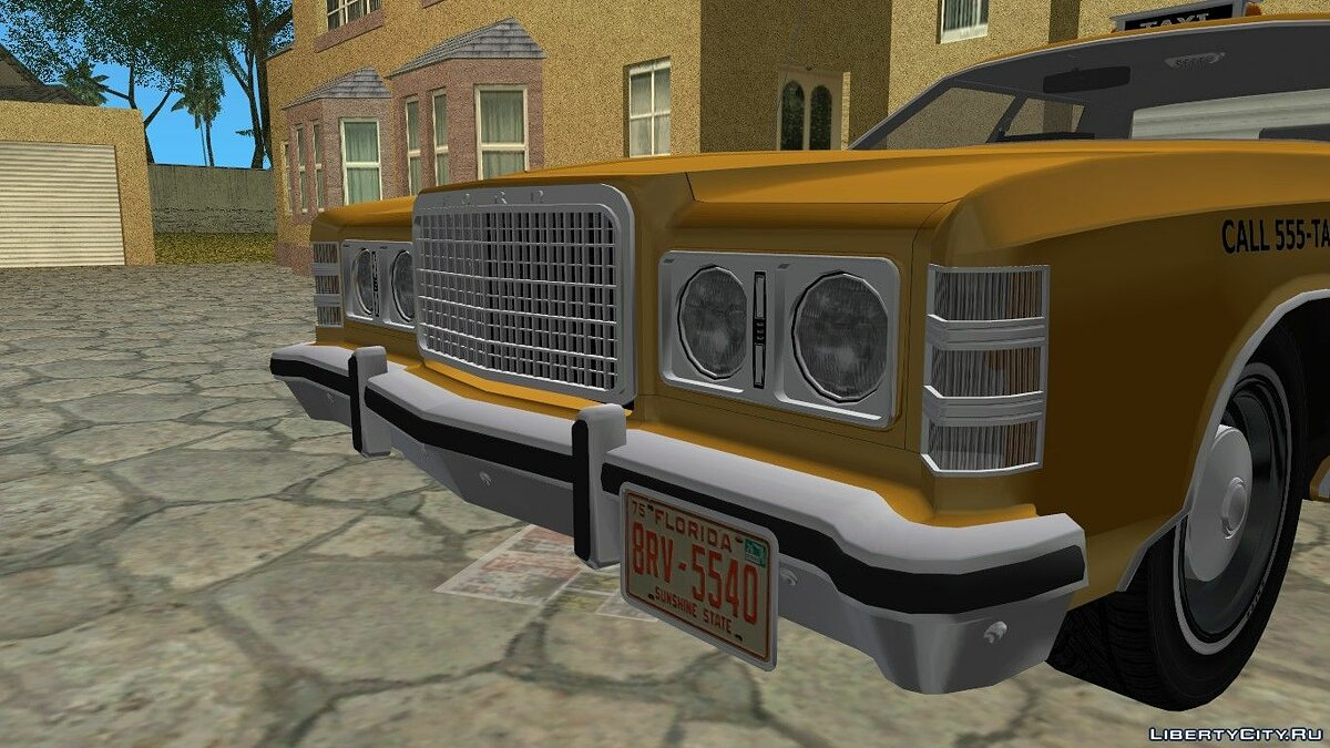 Ford Custom 500 (4-door) 1975 Taxi для GTA Vice City - скриншот #3