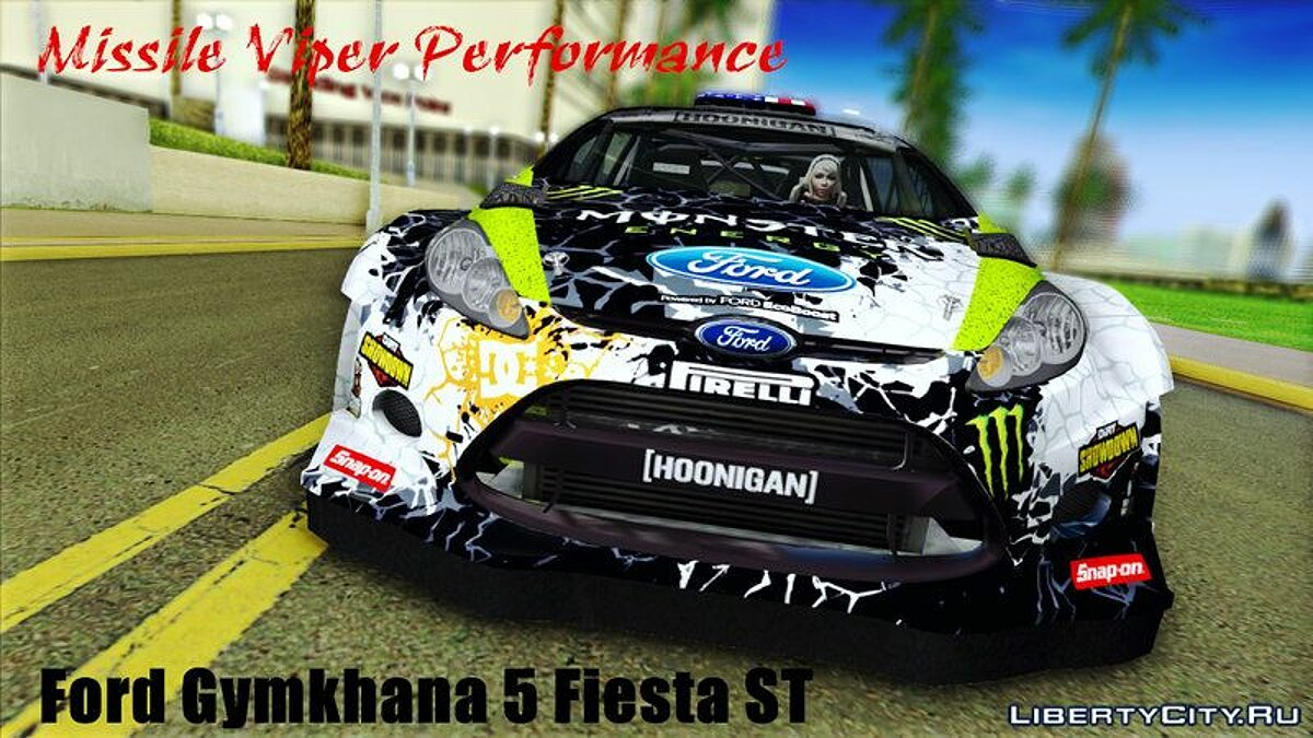 Ford Gymkhana 5 Fiesta ST для GTA Vice City