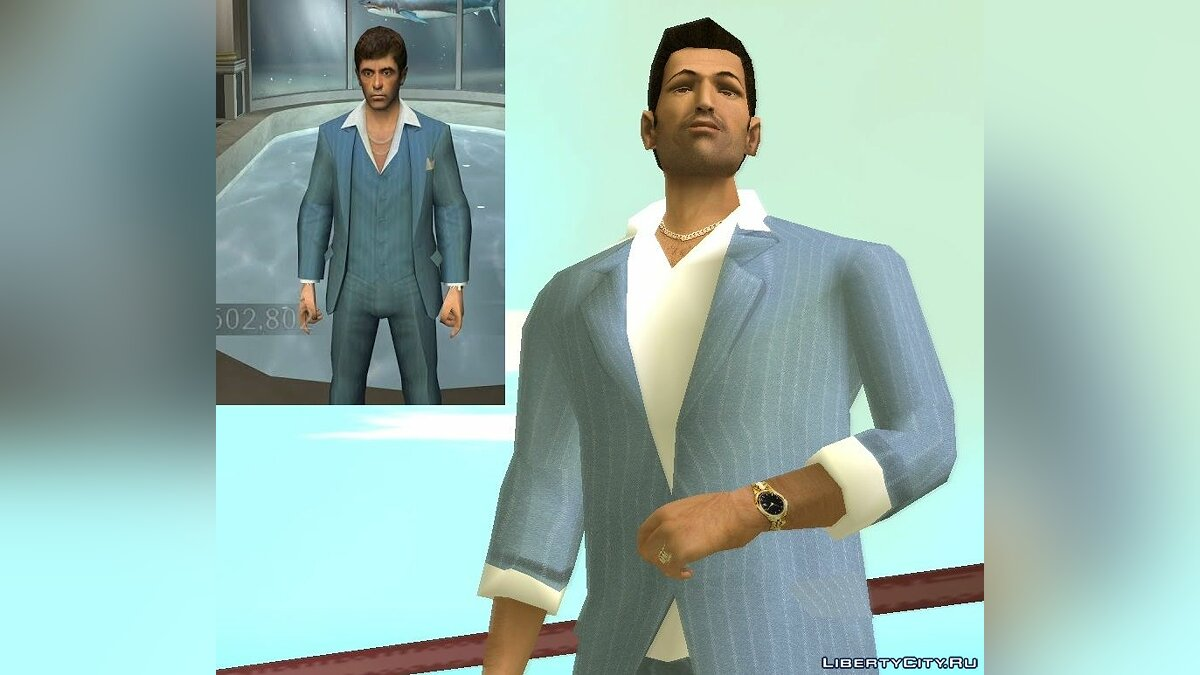 VCS Style Suits для GTA Vice City - Картинка #2