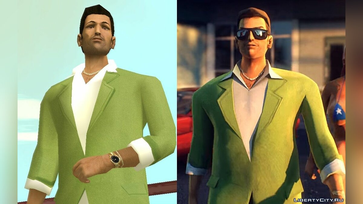 VCS Style Suits для GTA Vice City - Картинка #3