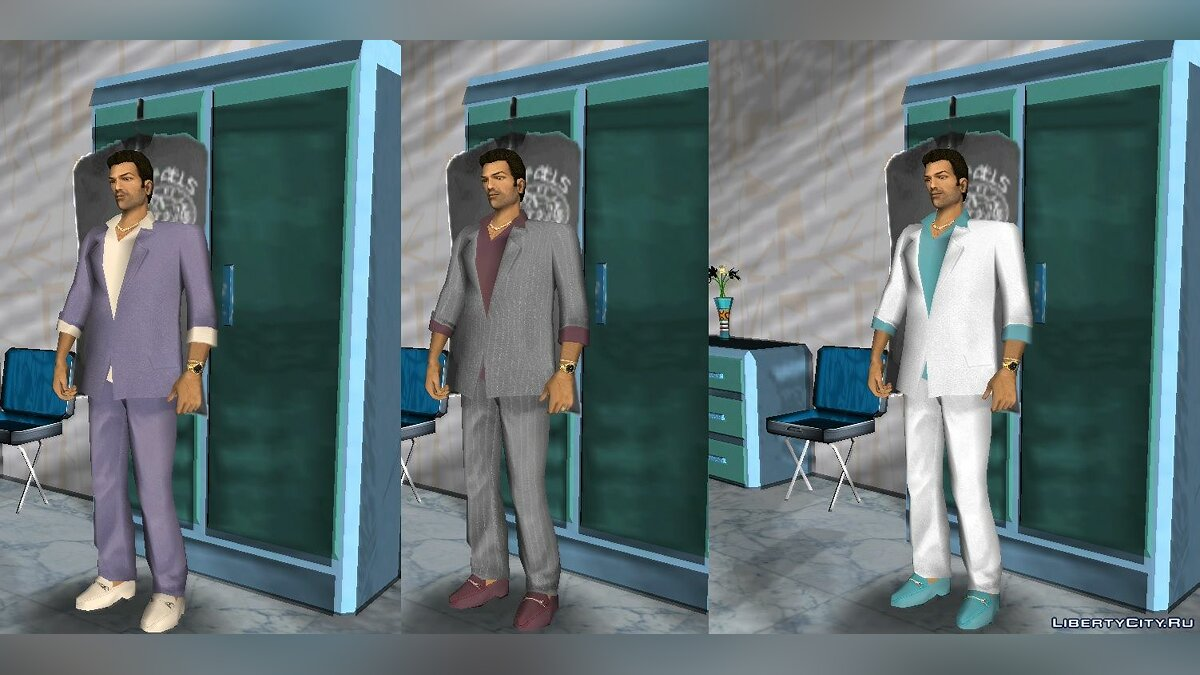 VCS Style Suits для GTA Vice City - Картинка #5