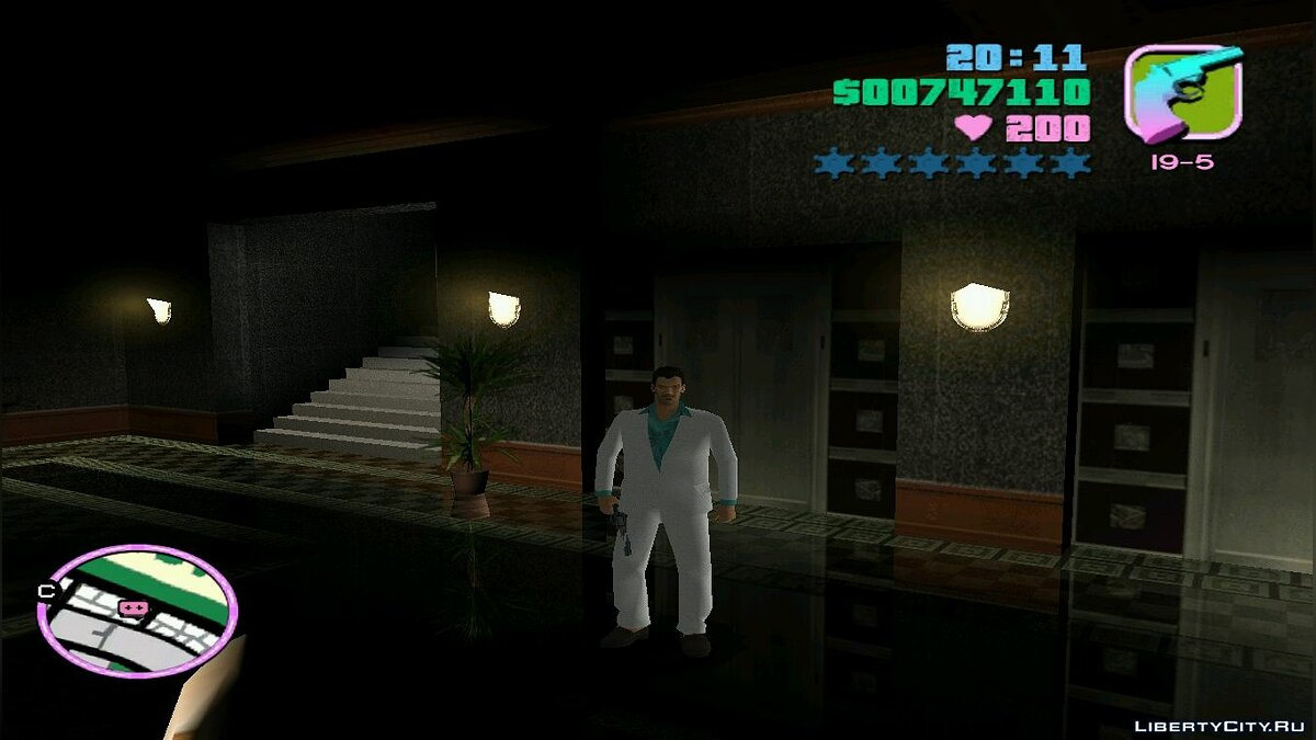 Белый Mr. Vercetti в HD для GTA Vice City - скриншот #3