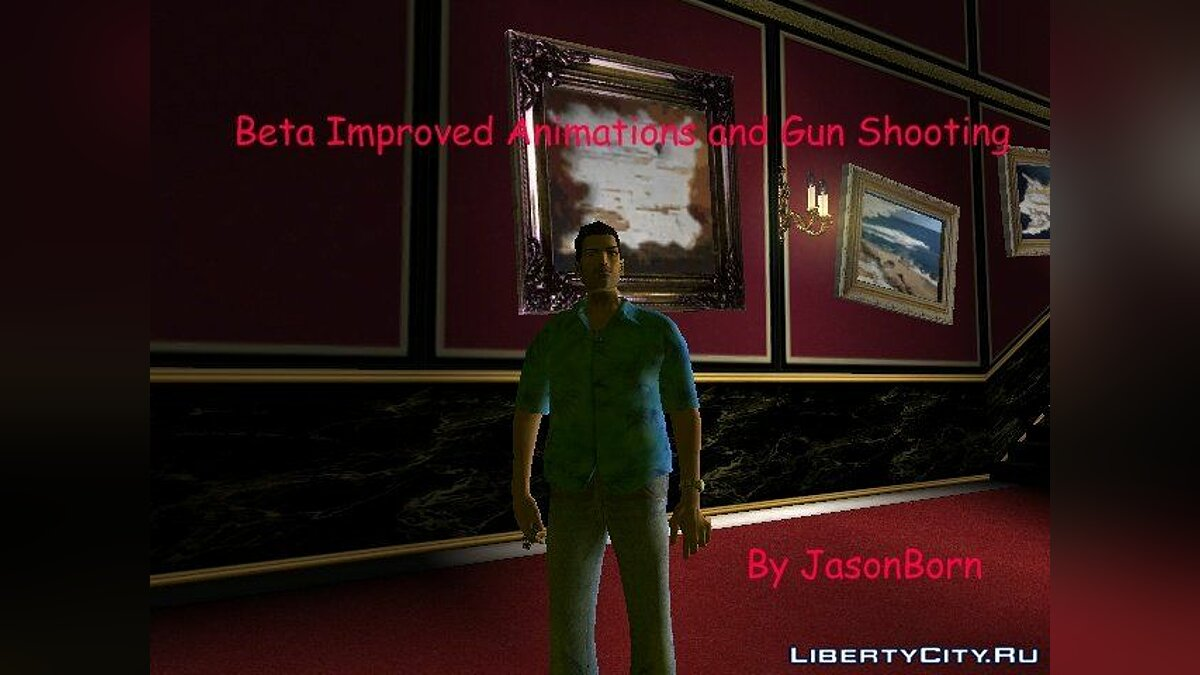 Beta Improved Animations and Gun Shooting для GTA VC для GTA Vice City - Картинка #1