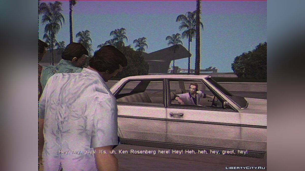 ENB мод Vice City on VHS (ReShade) для GTA Vice City