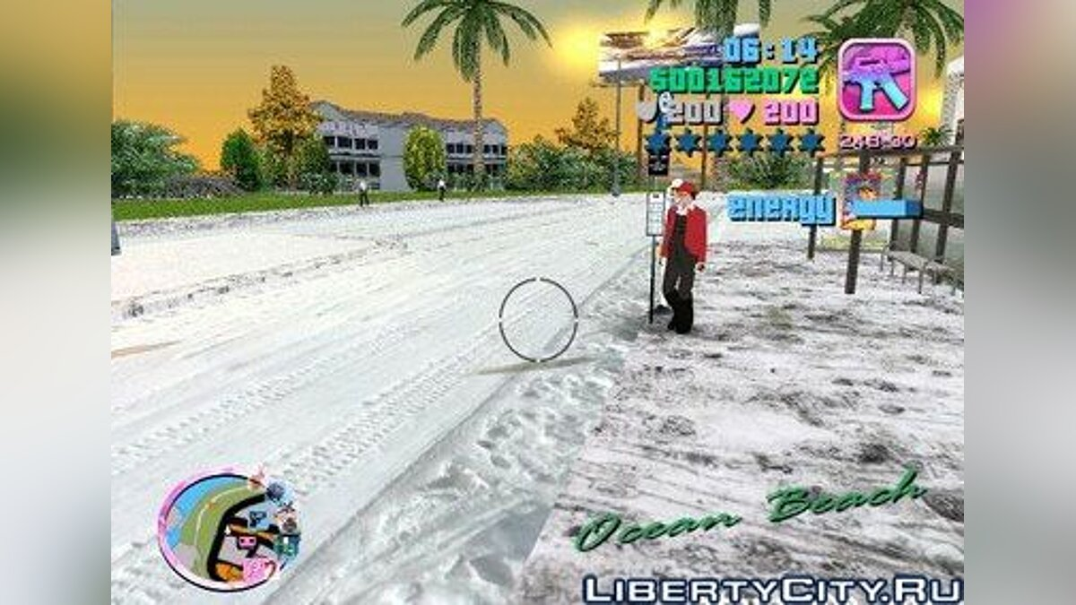 Snow Mod v2.0 для GTA Vice City
