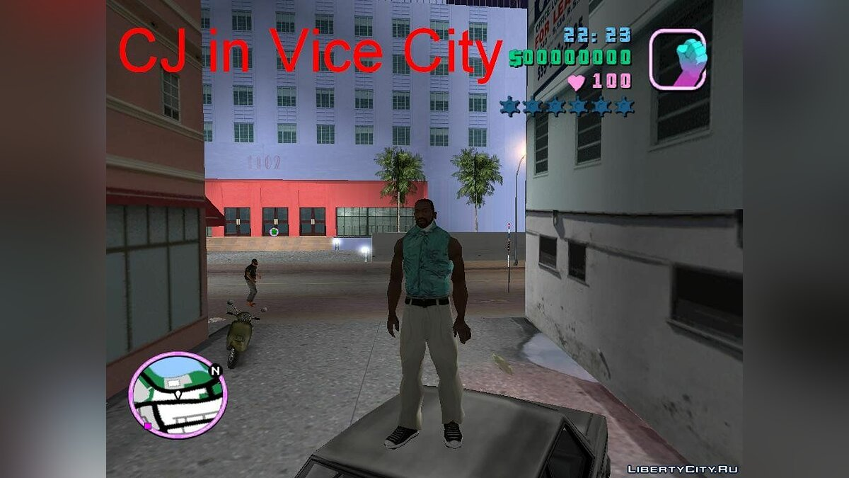 CJ in Vice City beta 2 для GTA Vice City