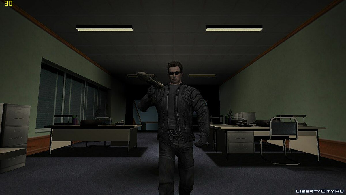 ��овый персонаж Terminator - Arnold Schwarzenegger для GTA Vice City