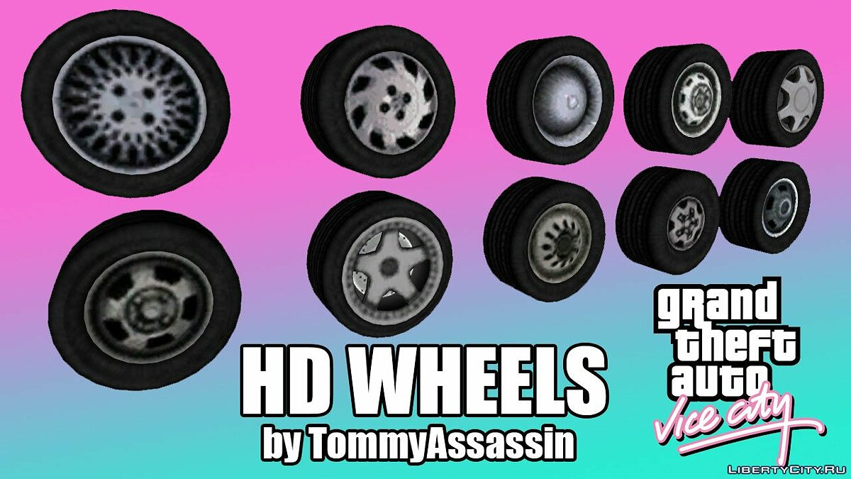 HD Wheels for GTA Vice City для GTA Vice City