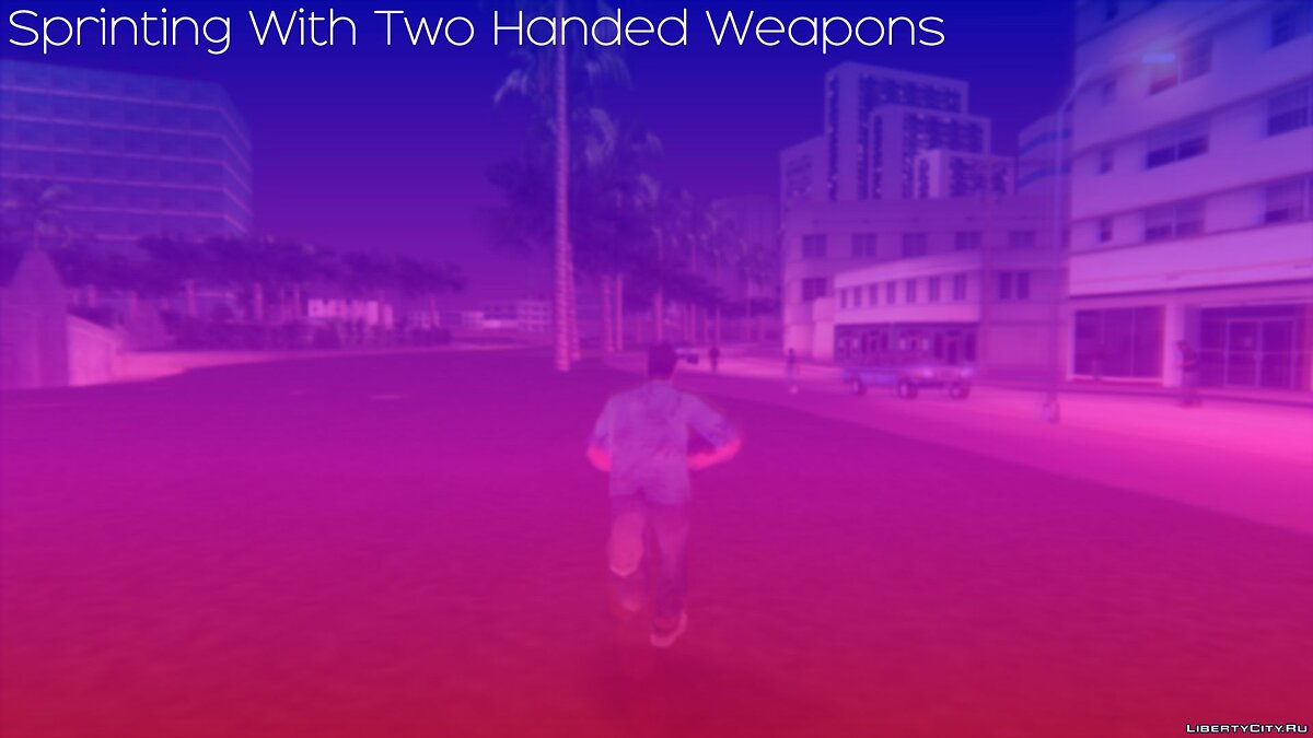 Мод Sprinting With Two Handed Weapons [VC] для GTA Vice City