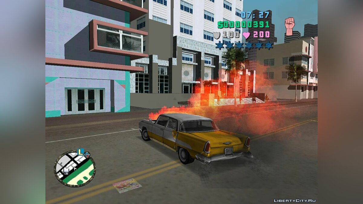 Мод Fire alarm car для GTA Vice City