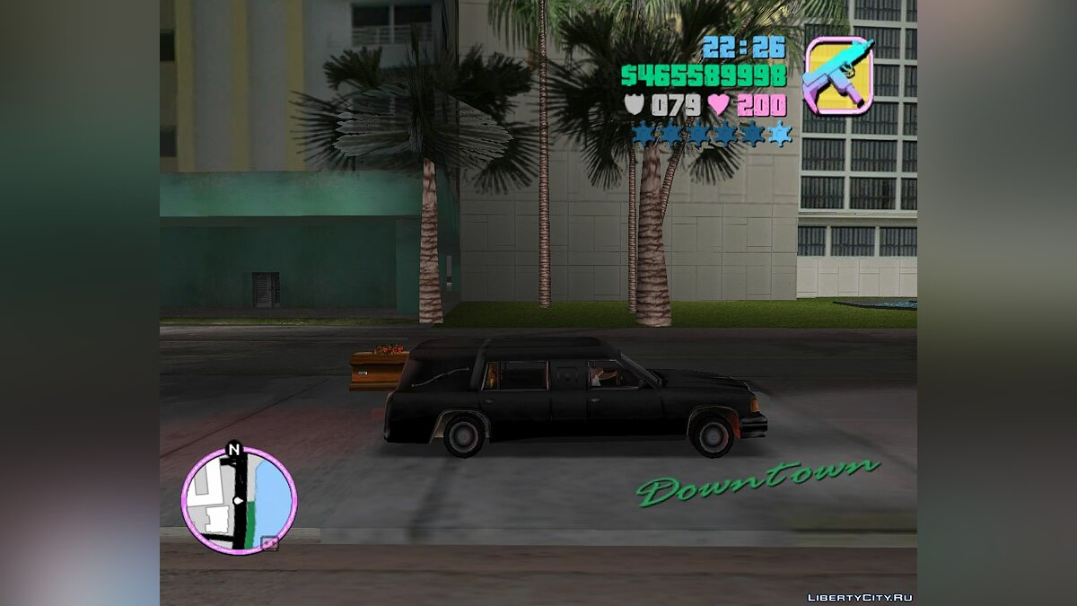 Romero's Hearse Drop Explosive Coffins для GTA Vice City - скриншот #3