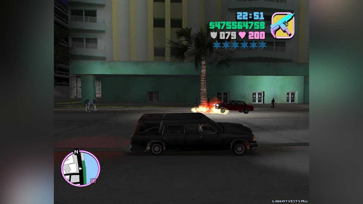 Romero's Hearse Drop Explosive Coffins для GTA Vice City - скриншот #2