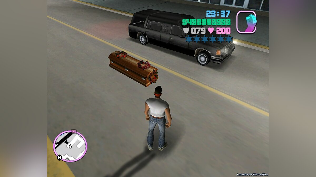 Romero's Hearse Drop Explosive Coffins для GTA Vice City