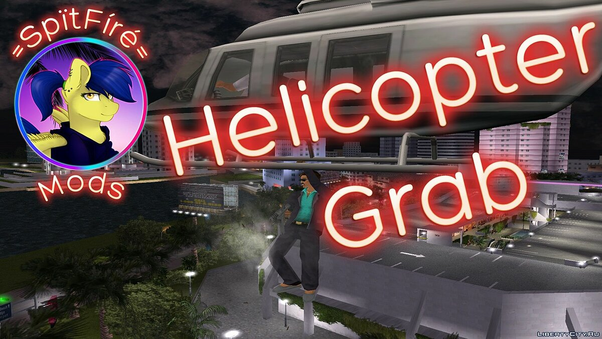 Helicopter Grab для GTA Vice City