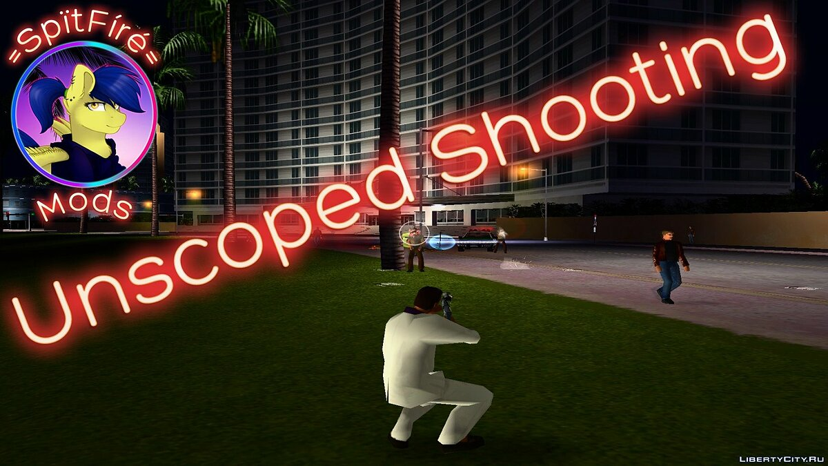 Unscoped Shooting для GTA Vice City