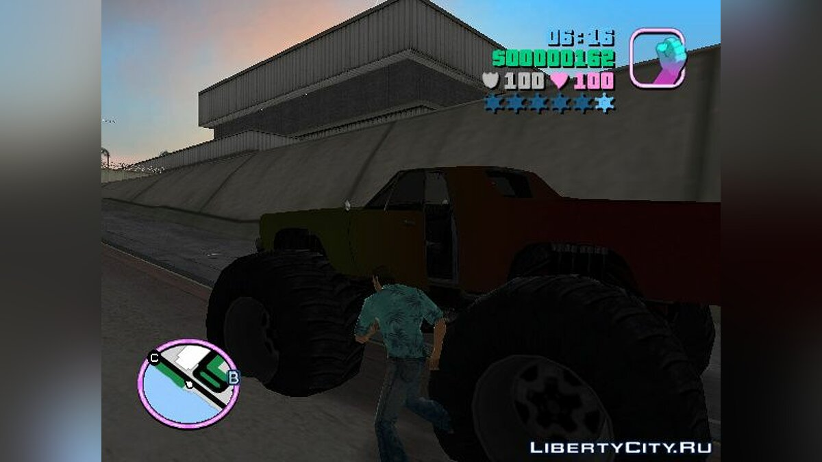 ��рузовик Marshall Monster Truck for Vice City (MVL) v. 1.0 для GTA Vice City