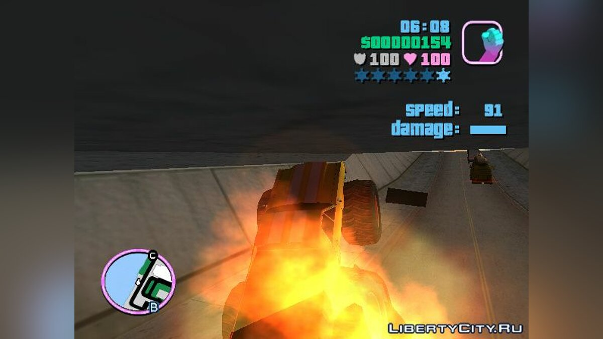 Грузовик Marshall Monster Truck for Vice City (MVL) v. 1.0 для GTA Vice City