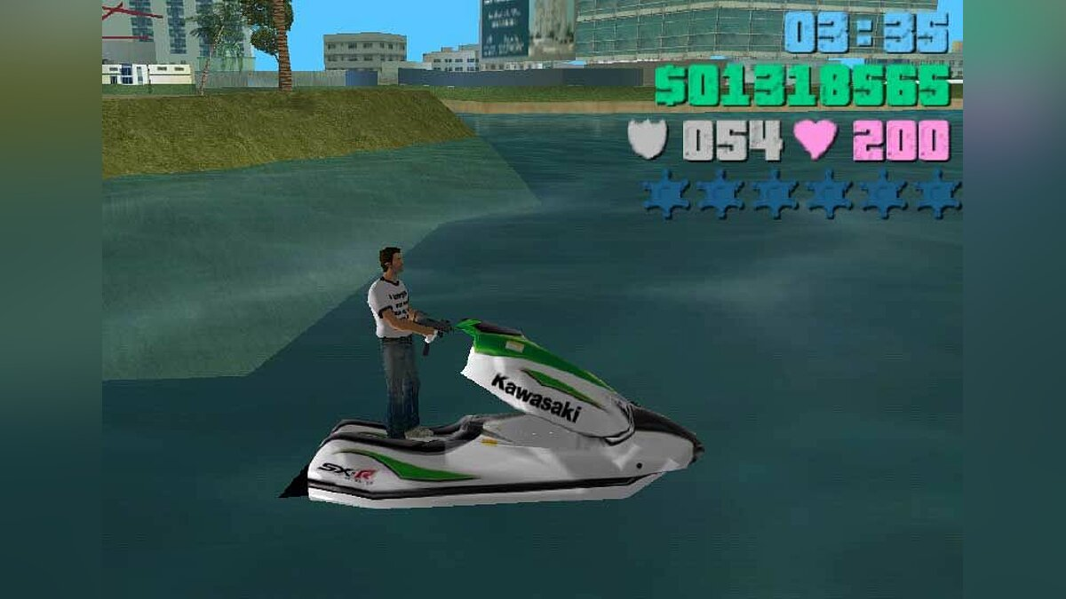 Скутер Kawasaki для GTA Vice City