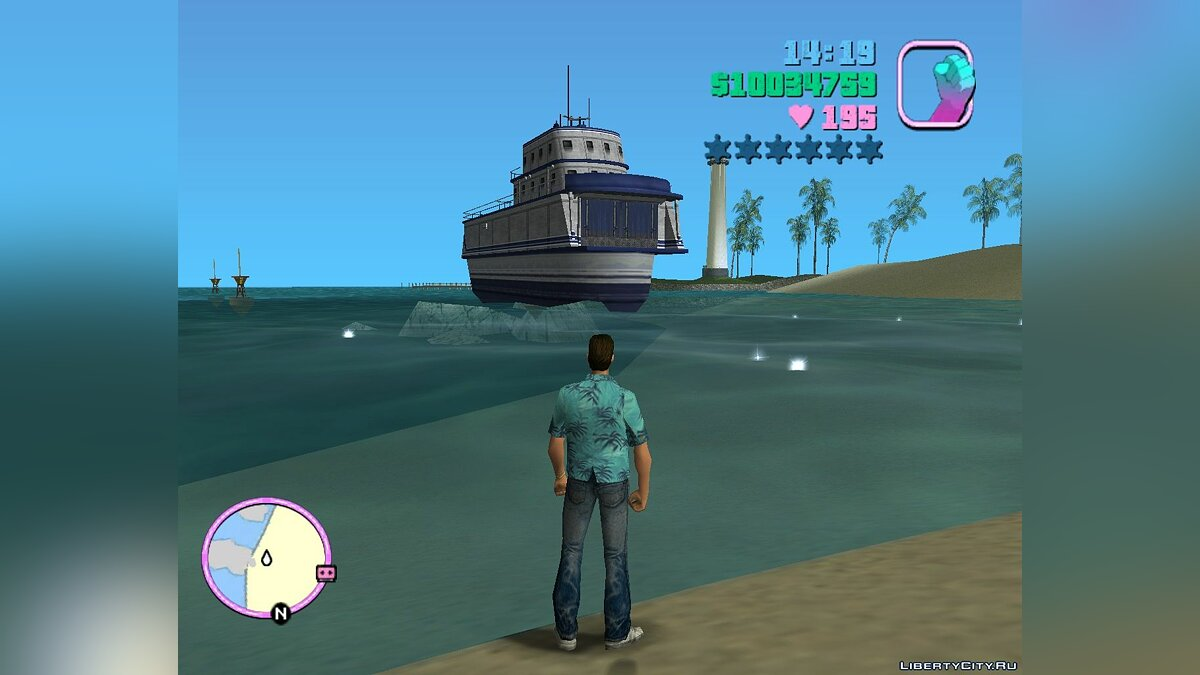 Лодка и катер Ferry LCS (MVL) для GTA Vice City