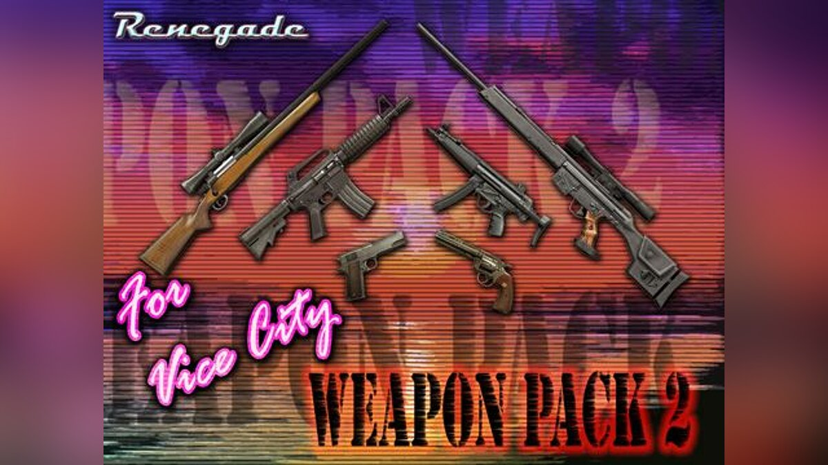 Gunpack from Renegade для GTA Vice City
