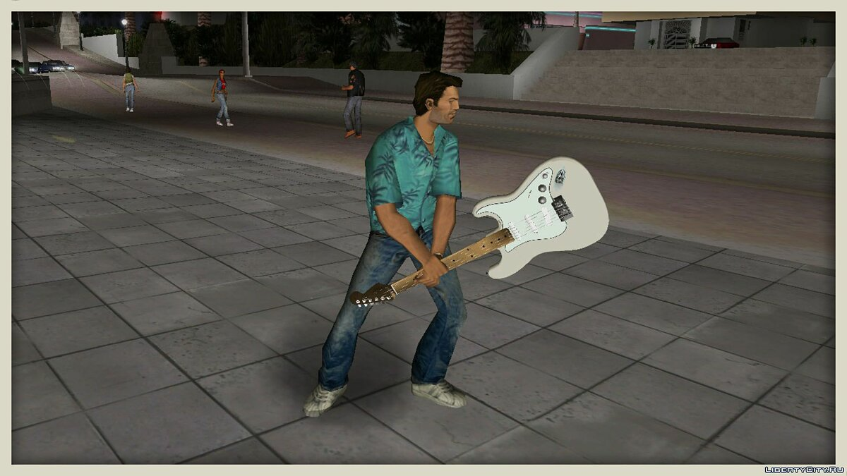 Fender Jimi Hendrix Stratocaster для GTA Vice City - Картинка #1