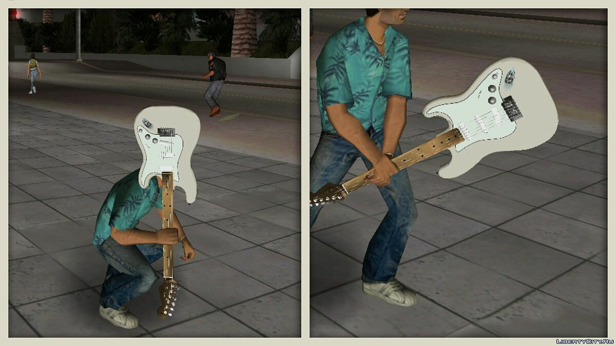 Fender Jimi Hendrix Stratocaster для GTA Vice City - Картинка #2
