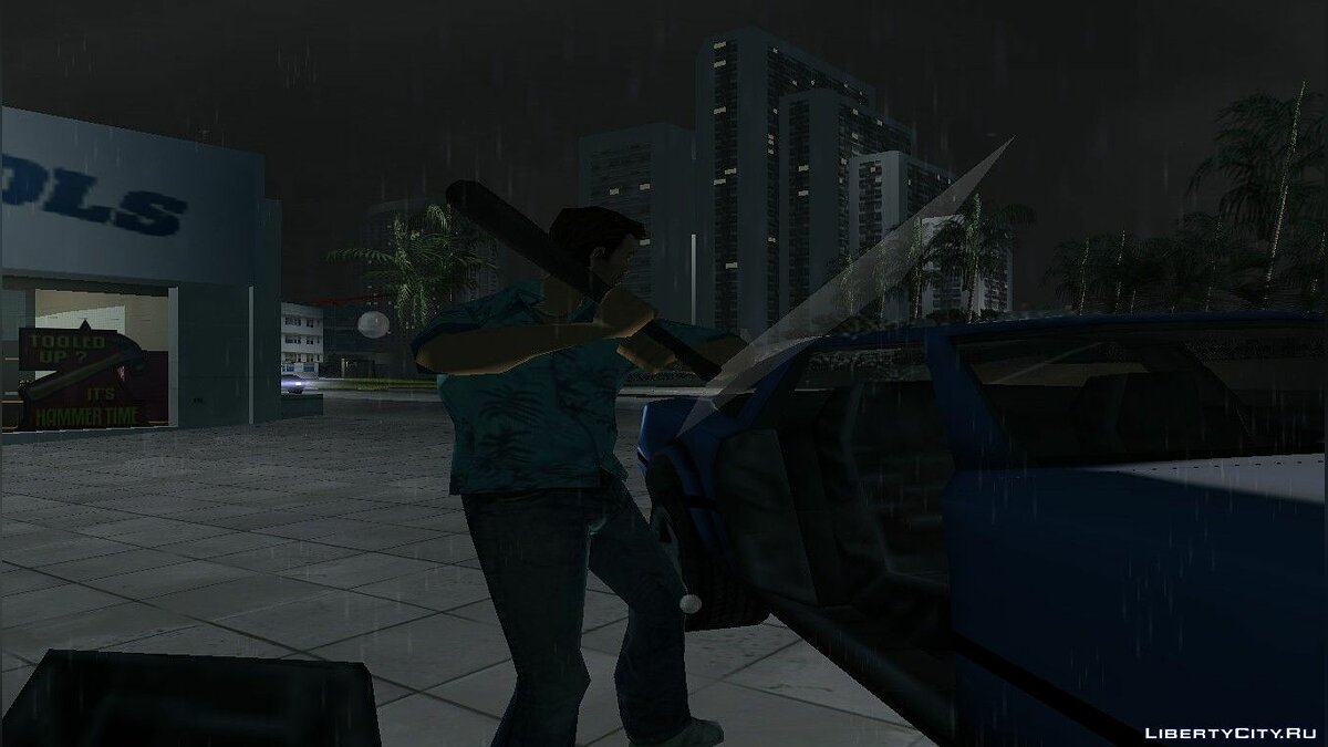 Оружейный мод Manhunt small bat to Vice City для GTA Vice City