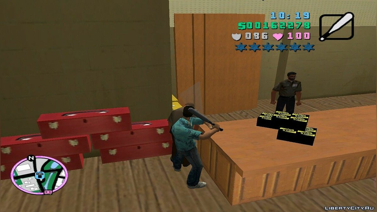 Оружейный мод GTA San Andreas baseball bat to Vice City для GTA Vice City