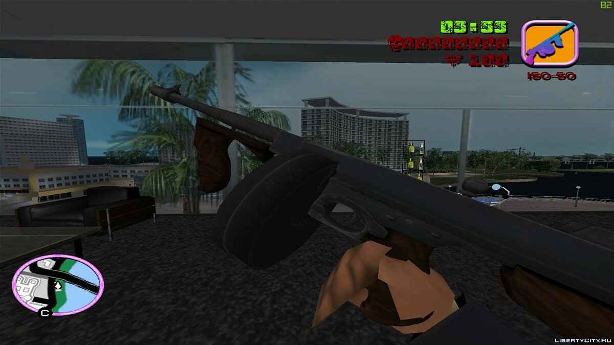 Оружейный мод Thompson 1928 для GTA Vice City