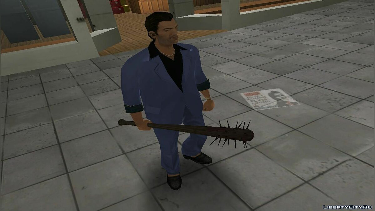 Оружейный мод Manhunt spiked bat to Vice City для GTA Vice City