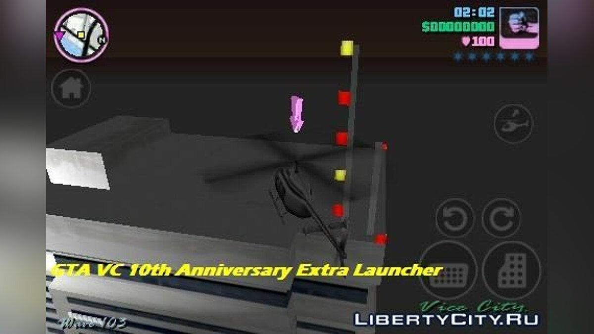 ��од GTA VC 10th Anniversary Extra Launcher v0.5 для GTA Vice City (iOS, Android)