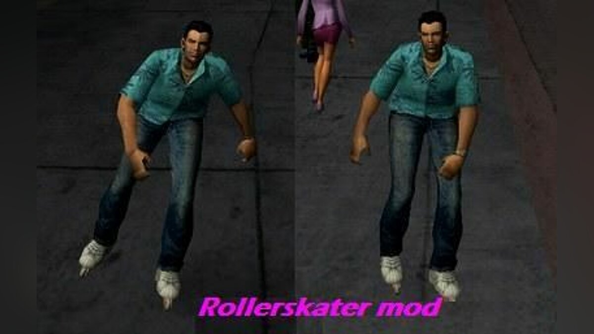 ��од Rollerskater mod для GTA Vice City (iOS, Android)