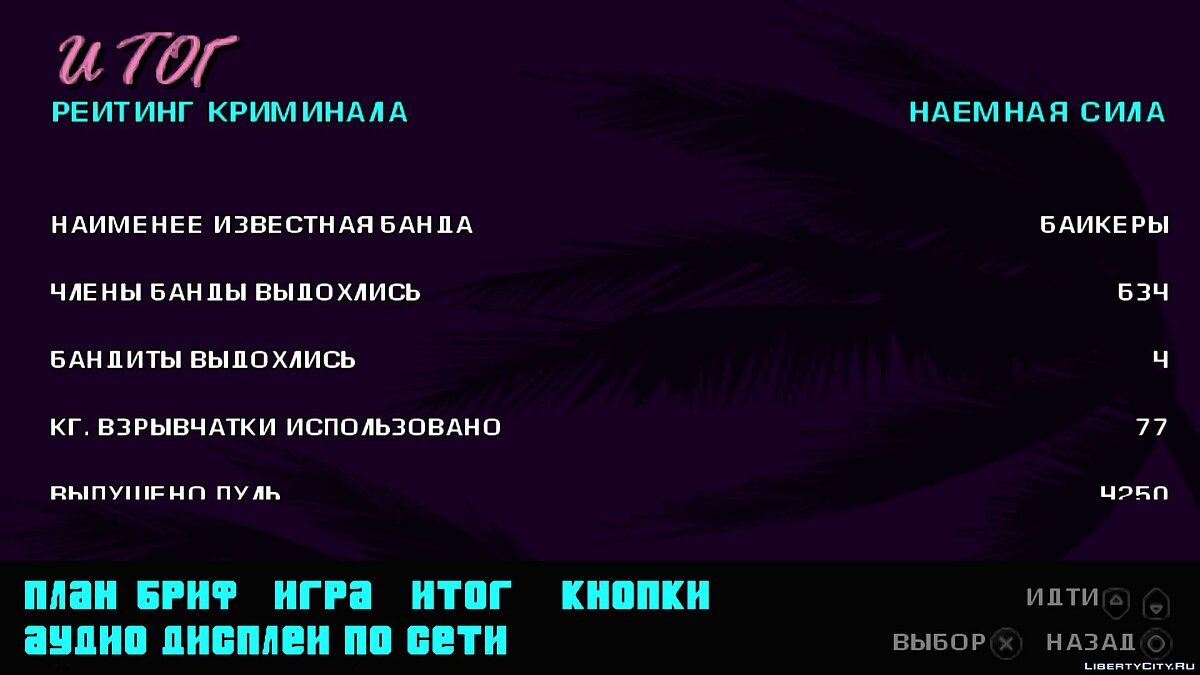 Сохранение GTA VCS - Starter Save для GTA Vice City Stories