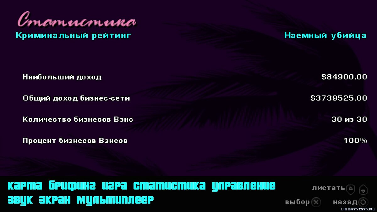 Сохранение Сохранение GTA Vice City Stories 100% PSP для GTA Vice City Stories