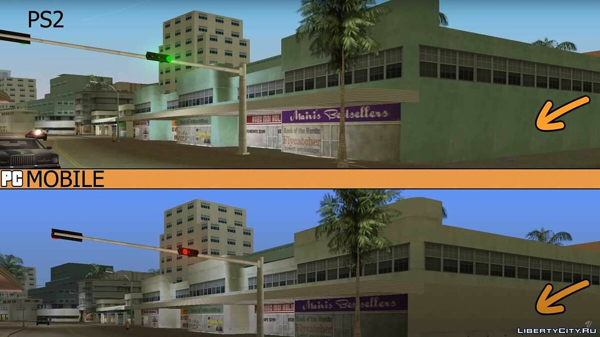 Большой мод PS2 features restored to Mobile для GTA Vice City (iOS, Android)