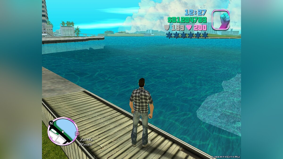 Новая вода для Вайс-Сити для GTA Vice City