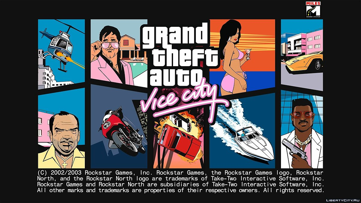 Vice City Hi-res Loadscreen для GTA Vice City