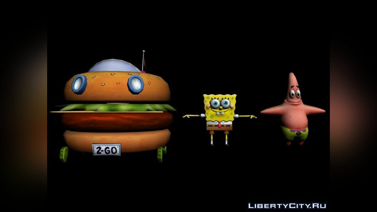 Nick Racers Revolution 3D Characters - Sponge Bob and Patrick для модмейкеров - Картинка #1