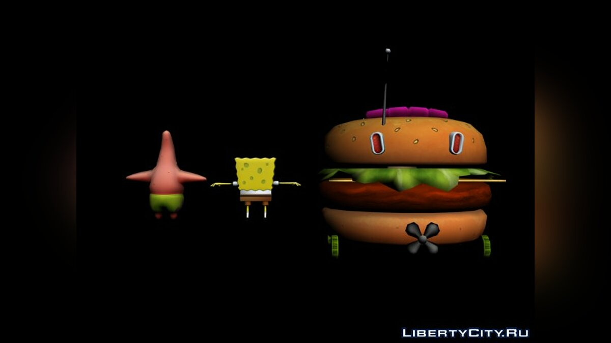 Nick Racers Revolution 3D Characters - Sponge Bob and Patrick для модмейкеров - Картинка #2