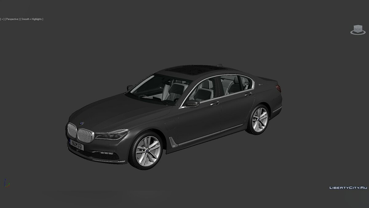 Модель 3D Models BMW 7 Series (G12) 2015 для модмейкеров