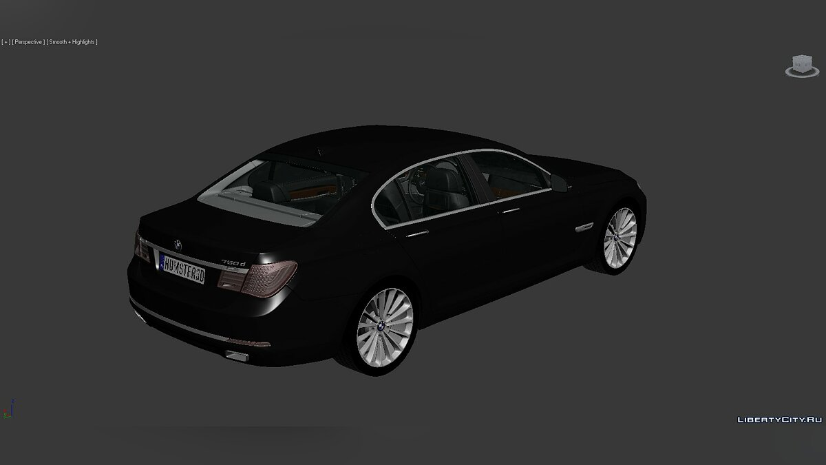Модель 3D Models BMW 7 Series (F02) 2013 для модмейкеров