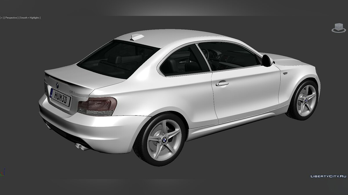 3D Models BMW 1 Series (E82) 2007 для модмейкеров - Картинка #7