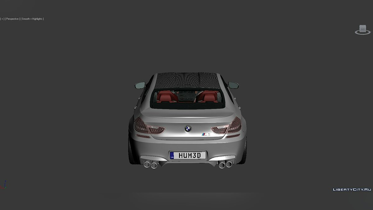 Модель 3D Models BMW 6 Series (F06) 2013 для модмейкеров
