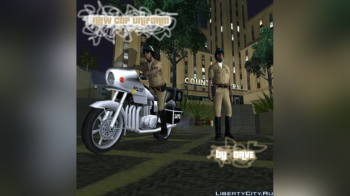 Скин New uniform cops on bike для GTA San Andreas