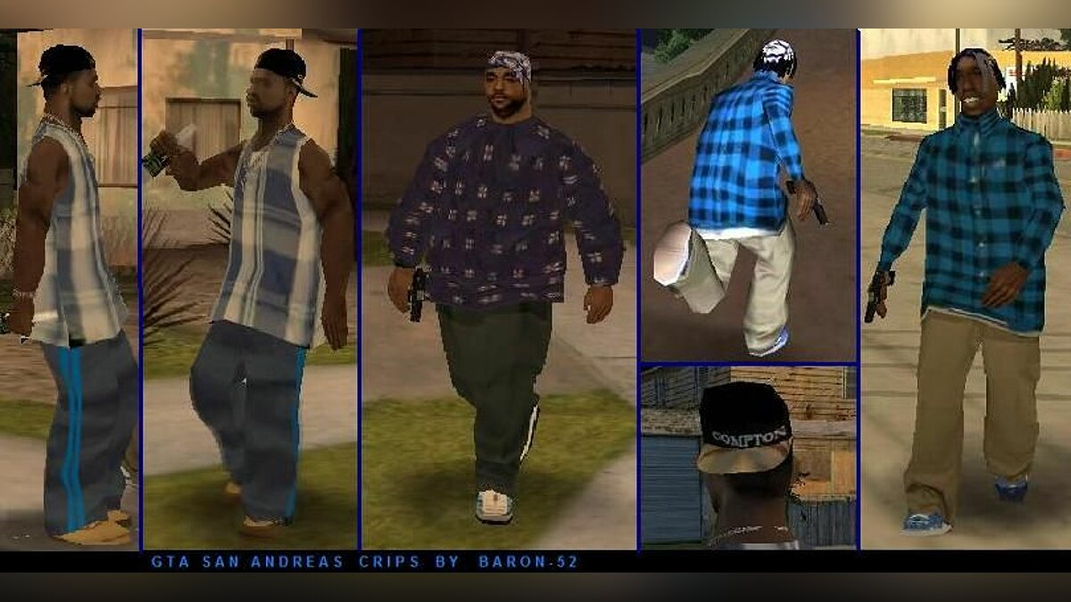 GTA-SA Bloods`n`Crips by Baron-52 для GTA San Andreas