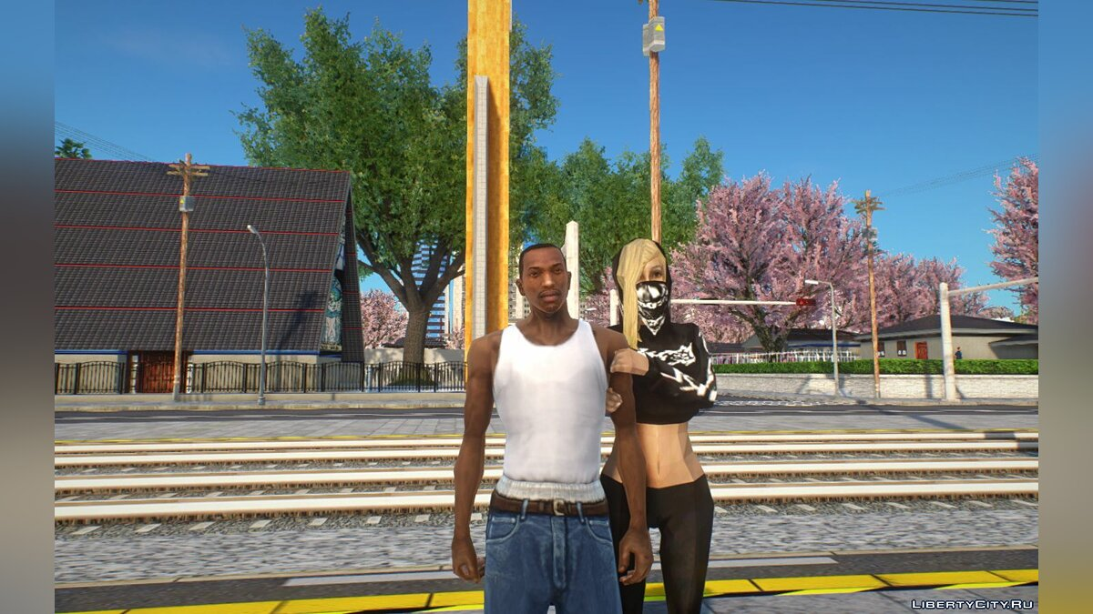 Скин Walley's Gangstagrl для GTA San Andreas