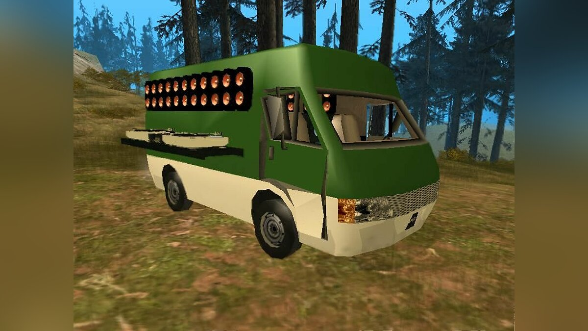 Van with Sound System для GTA San Andreas