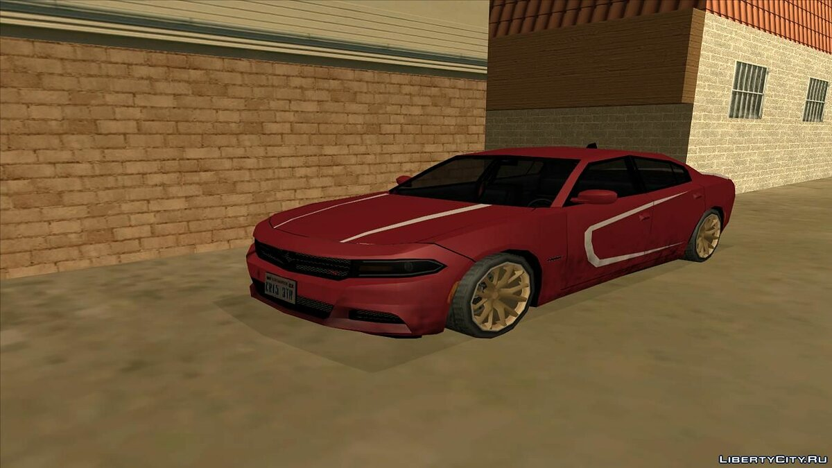 Машина Dodge Charger SRT8 Hellcat 2015 Low Poly [SA Styled] для GTA San Andreas