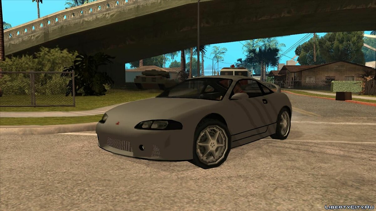 Машина Mitsubishi Eclipse low poly для GTA San Andreas