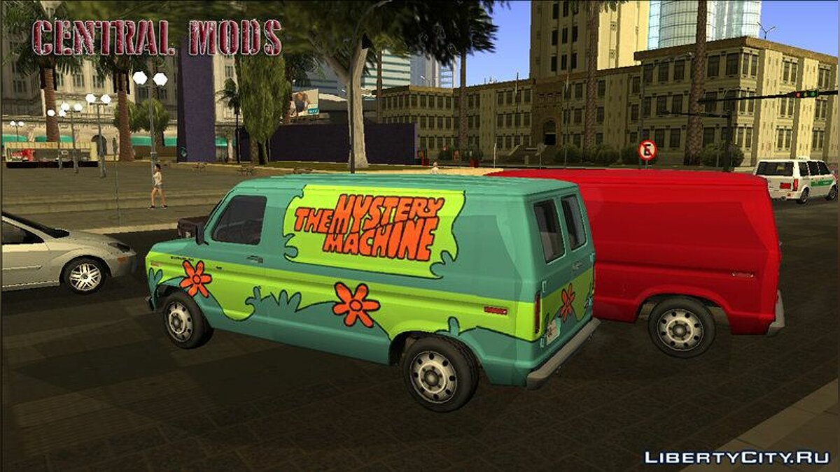 Машина Ford E-150 - Normal/Scooby-Doo - Improved version v2 для GTA San Andreas